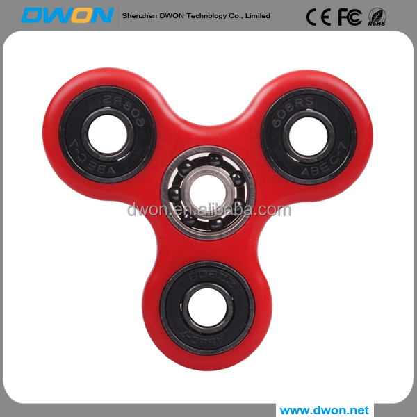 2017 High quality steel fidget spinner toy ceramic relieves stress tri-spinner