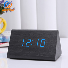Wholesale Multifunction Table Led Display Wooden Alarm Clock