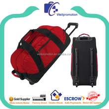 Promotional cheap trolley travel luggage bag on wheels