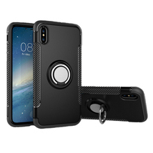 360 Degree Rotation Phone Ring Holder Hybrid Back Cover Case For iPhone X