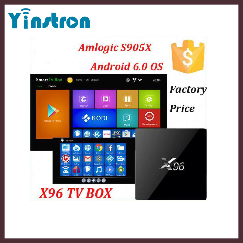 X96 Amlogic S905X Quad Core Cheap Android 6.0 Marshmallow 1G 8G TV Box 4K*2K Kodi fully loaded Internet TV box