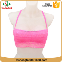 Costumized logo factory direct selling pink lace hot bras lingeries for teen