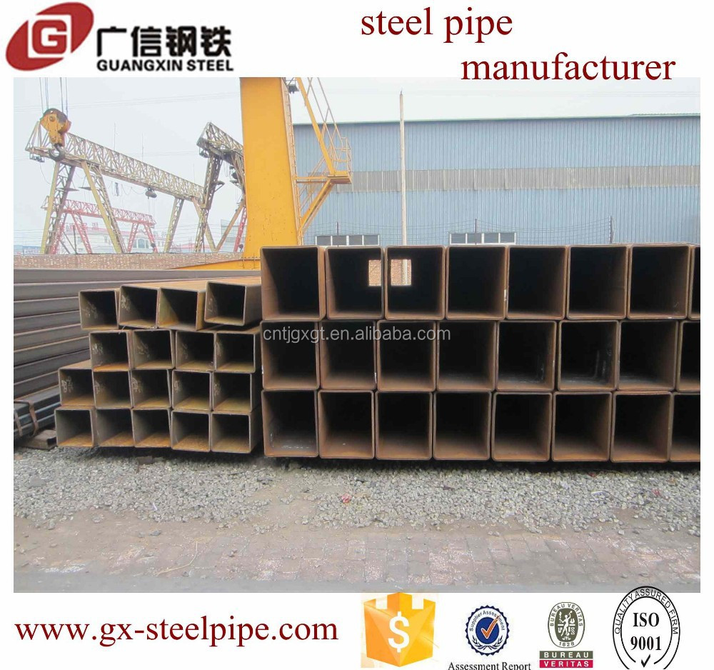 Pipe manufacturer!!! weight of gi square pipe/Top level square pipe steBV and ISO manufacturer tube weldingel company/