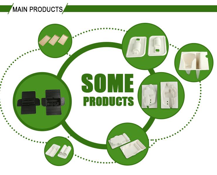 Não tóxico inofensivo sanitário eco biodegradável descartável fast food bandeja de embalagem