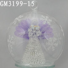 factory supplier wholesale custom christmas ball ornament with angel inside