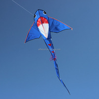 Easy to fly children cartoon shark kites in different colors