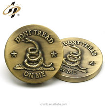Wholesale custom metal cheap token souvenir antique challenge gold coin