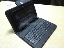 new arrival hot sale Keyboard Stand leather case 10.1 tablet leather case with keyboard for 10.1inch tablet pc