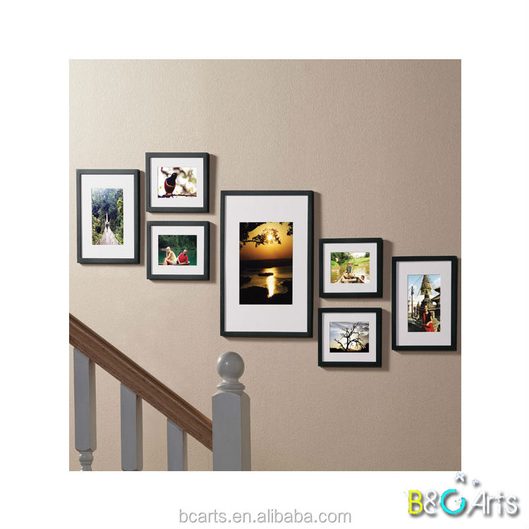 Custom colors wood frame moulding floating picture frame