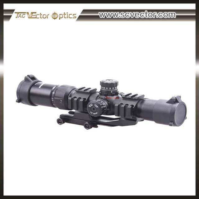 Vector OpticsTactical hunting Mustang 1.5-4x30 Rifle Scope with Etched Glass Chevron Reticle