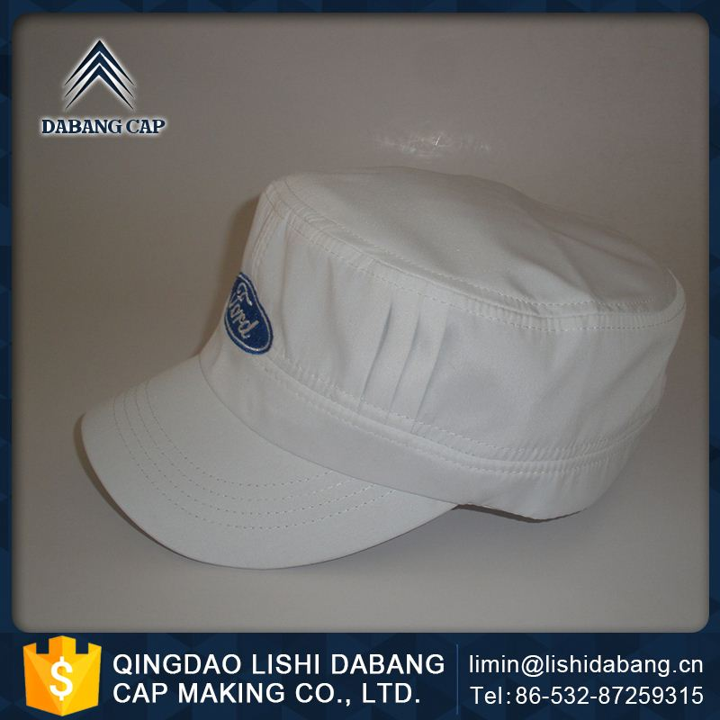 Advanced equipments made customized logo custom wax waxed brown fitted printed army cap