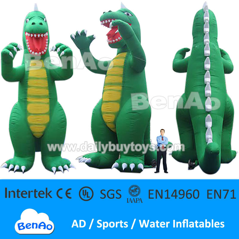 DC10 33ft 10m Inflatable Dinosaur Fixed Giant Cartoon Characters for Advertising + Repair Kits inflatable Godzilla