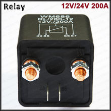 New Universal DC 12V 200A Car Relay 2 pin Split Charge Relay Car Boat Motorbike