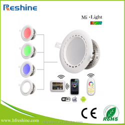 4 Channels 12W RGBW Milight LED Downlight Lamp Dimmable RGB+White Bulbs With Led Driver AC86-265V