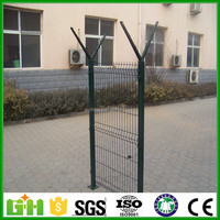 factory price 3D curved fence/stone filled welded wire mesh fence panel