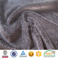 polyester spandex velour for clothes