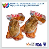 logo printed plastic forzen vacuum bags food packaging / vacuum packs for chicken bag