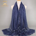 China Wholesale Tie-dye Cotton Long Hijab Scarf Autumn Winter Lace Scarves And Shawl