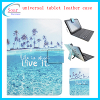 Wholesale colorful designs universal protective tablet leather case,universal 10 inch tablet keyboard leather case