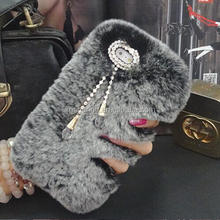 Diamond Plush case cover for iPhone 7 7 Plus, Luxury Fur case for iPhone 6 6 Plus