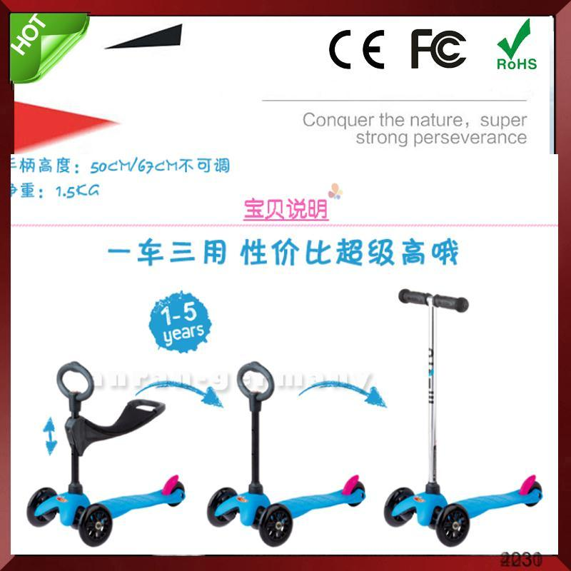 Child Age Kids Pedal Kick Adult Skate Three Wheel Mirco Scooter