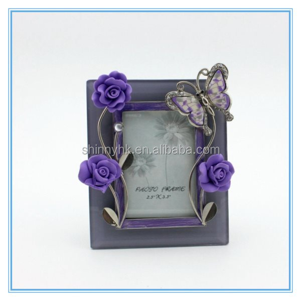 Shinny Gifts 3D Butterfly Shape Korea Style Bobble Head God Photo Frame