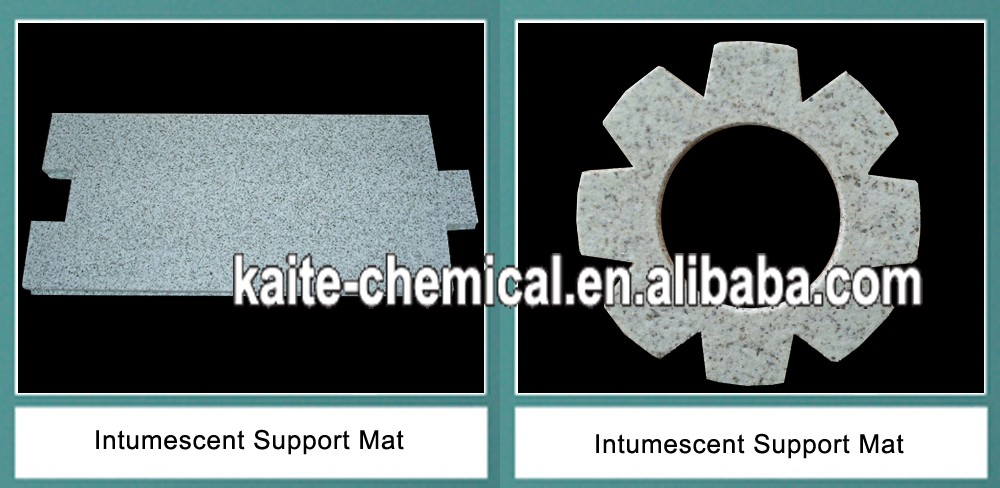 Supporting mat for catalytic converter double substrates
