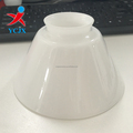 Beautiful Milk White Opal Shiny Hanging Conical Lamp Shades for hot sale