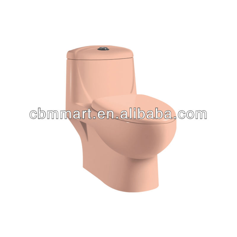 peach color toilet
