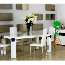 DT-3075 modern design white high gloss dining room table
