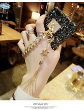 Cases for iPhone 7 Bling Luxury Rhinestone Chain Girls Cover Back Tassel Case for iPhone 6 6S 6Plus 6SPlus 7 7Plus