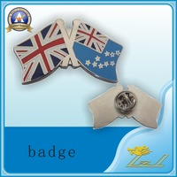 Butterfly Clutch Double Flag Souvenir Metal Pin Badge