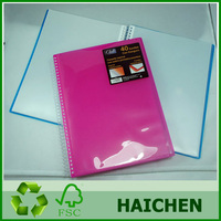 China manufacture pp made spiral clear book