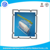 Printed PVC LDPE Ziplock Bags Slider Zip Lock Plastic Bag for Clothes