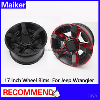 Hot selling 17 inch Aluminum alloy wheels for wrangler Jk off road 4*4 wheel Rims