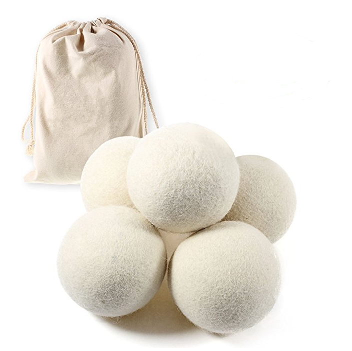 cotton bag 6 pack 100% pure organic wool dryer ball