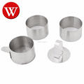 6 Pcs Stainless Steel Mousse Ring Cake Ring set , Food Ring Set With with Food Press ,Round Forms