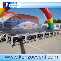 cheap metal stage truss aluminum portable adjustable legs mobile stage for events