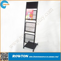 2014 Hot selling metal literature stands outdoor magazine rack