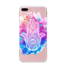 Creative Hamesh / Hamsa hand customized tpu phone case for iphone 5s 6s 6s plus 7 7 plus color printing soft tpu back cover