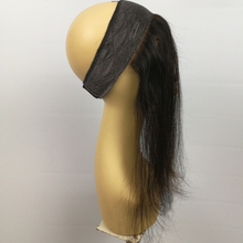 Mongolian human hair jewish wig band lace front wig grip iband