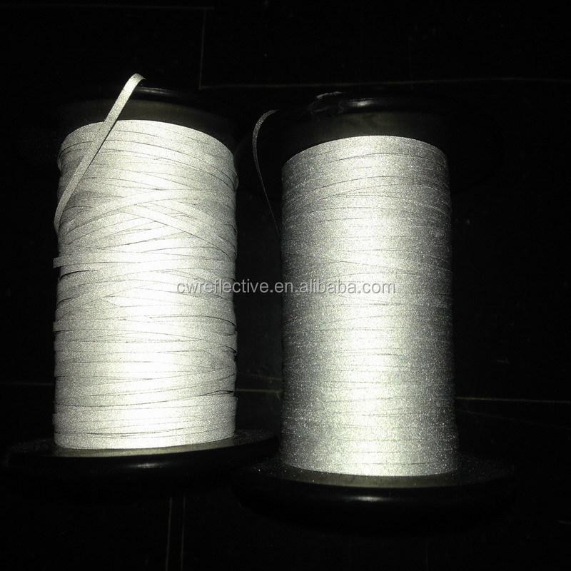Reflective weaving filament thread