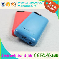 2015 new 2000mAh Backup Power Bank External Charger Case Pack For iPhone4/4S