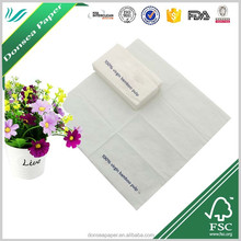 High Quality Disposable Virgin Bamboo 2ply Printed 1/8 Folded Lunch Paper Napkin