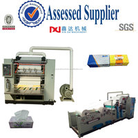 Automatic color printing spray hygiene paper embossed folding tissue facial machine factory