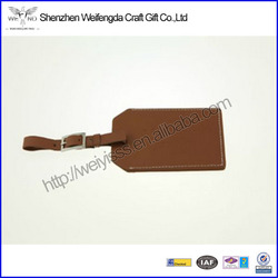 "Set of Four Brown Leather Luggage ID Tags ""Oh, the Places You'll Go"""