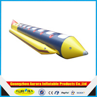 6 seats funny water games inflatable banana boat