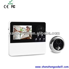 DIY 3.2'' Video Doorbell with taking photos function / Digital Door Eye Camera with good night vision and 32 ring tones