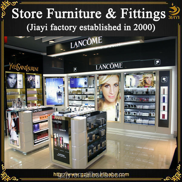 Modern hot selling custom wood furniture for cosmetic store,shop shelves design