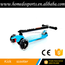 Folding adjustable scooters 120mm pu wheel